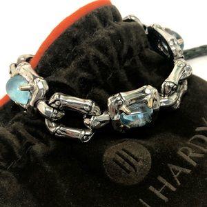 John Hardy Bamboo Link Blue Topaz Bracelet